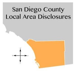 San Diego County Local Area Disclosures